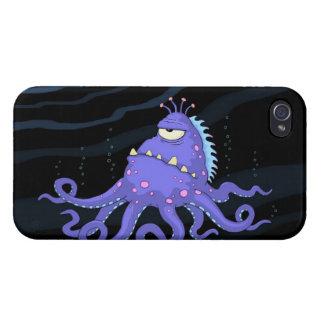 One Eyed Octopus Sea Creature iPhone 4 Case