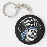 One-eyed Pirate Basic Round Button Keychain