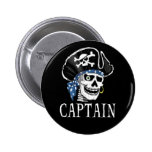 One-eyed Pirate Captain 2 Inch Round Button