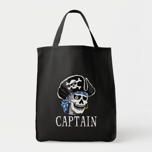 One-eyed Pirate Captain Canvas Bag