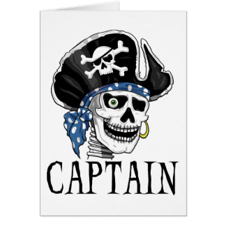 One-eyed Pirate Captain Greeting Card