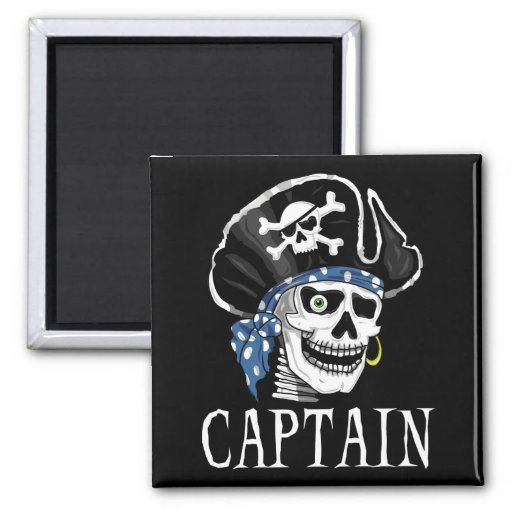 One-eyed Pirate Captain Magnets