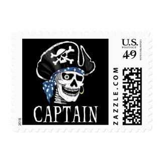 One-eyed Pirate Captain Postage Stamp