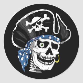 One-eyed Pirate Classic Round Sticker
