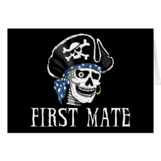 One-eyed Pirate First Mate Greeting Card