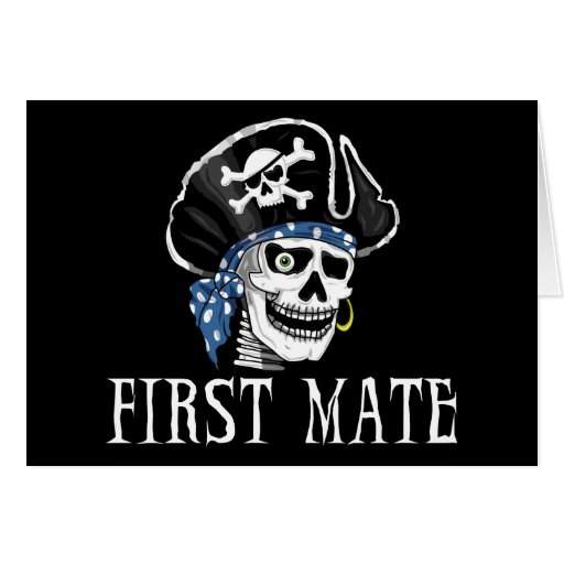 One-eyed Pirate First Mate Card