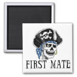 One-eyed Pirate First Mate Fridge Magnets