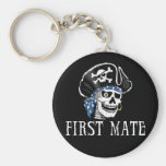One-eyed Pirate First Mate Basic Round Button Keychain