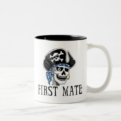 One-eyed Pirate First Mate Two-Tone Coffee Mug