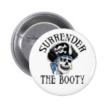 One-eyed Pirate Skull and Crossbones 2 Inch Round Button