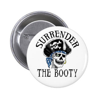 One-eyed Pirate Skull and Crossbones Button