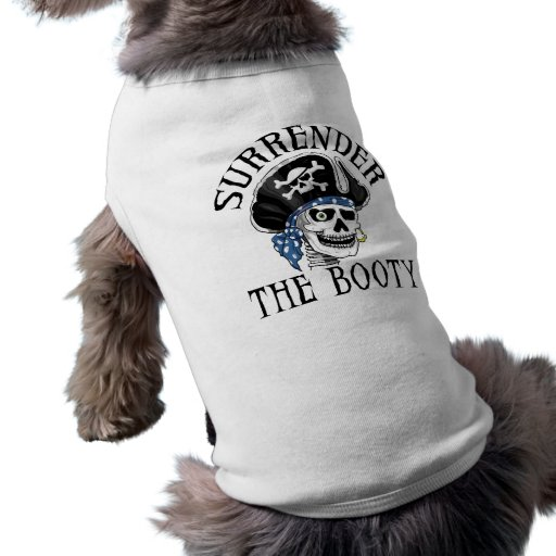 One-eyed Pirate Skull and Crossbones Doggie Tshirt