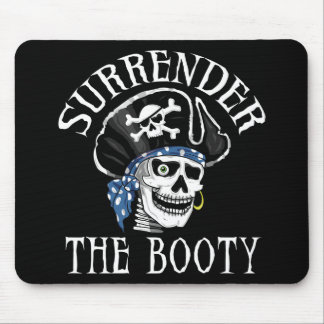 One-eyed Pirate Skull and Crossbones Mouse Pad