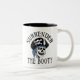 One-eyed Pirate Skull and Crossbones Mugs