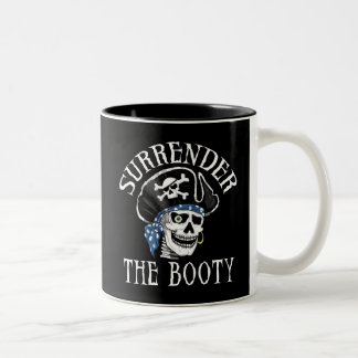 One-eyed Pirate Skull and Crossbones Two-Tone Coffee Mug