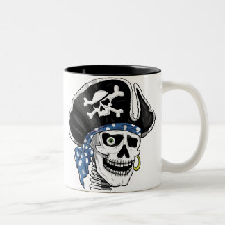 One-eyed Pirate Two-Tone Coffee Mug