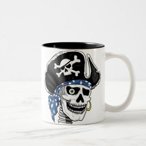 One-eyed Pirate Two-Tone Coffee Mug