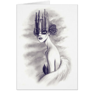 One eyed queen greeting card