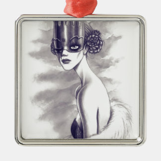 One eyed queen metal ornament