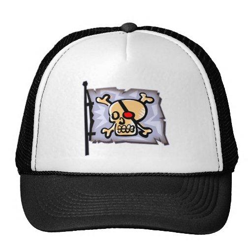 One Eyed Skull Pirate Flag Trucker Hat