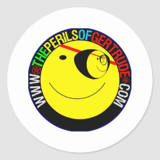 ONE EYED SMILEY CLASSIC ROUND STICKER