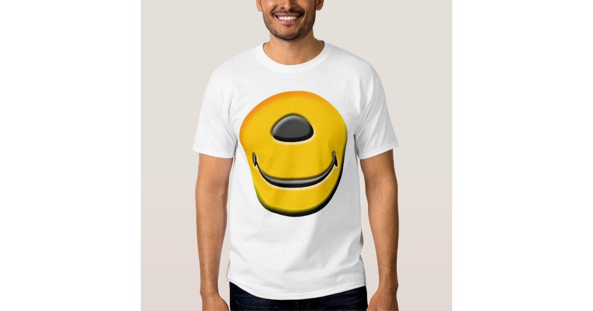 one eyed smiley t shirt t shirt zazzle. Black Bedroom Furniture Sets. Home Design Ideas