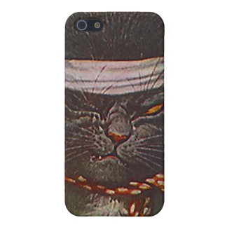 One-eyed winking Pirate Cat vintage style Iphone 4 Cover For iPhone SE/5/5s