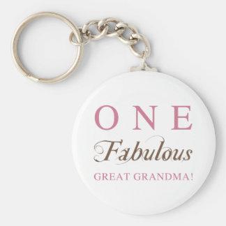 One Fabulous Great Grandma Gifts Basic Round Button Keychain