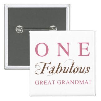 One Fabulous Great Grandma Gifts Button