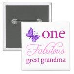 One Fabulous Great Grandma Pinback Button