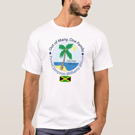 One family adult flag front basic T-Shirt