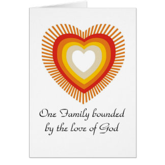 One Family bonded by the love of God Card
