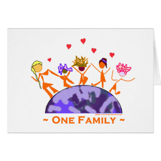 One Family - Earth Greeting Card