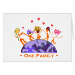 One Family - Earth Greeting Cards