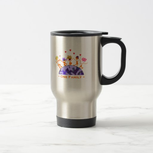 One Family - Earth 15 Oz Stainless Steel Travel Mug