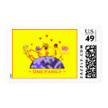 One Family - Earth Postage Stamp
