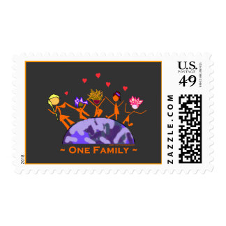 One Family - Earth Postage Stamps