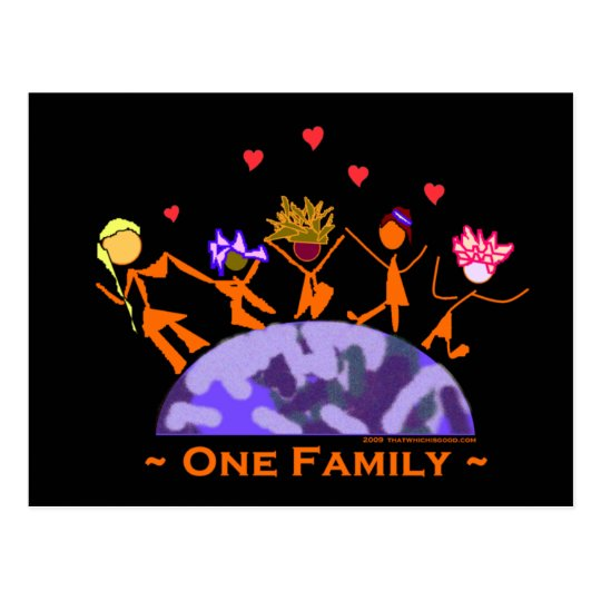 One Family - Earth Postcard