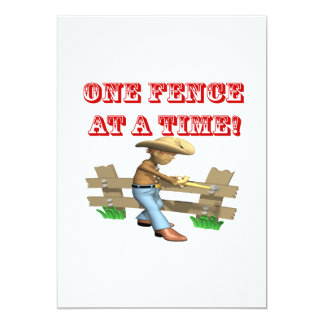 One Fence At A Time 5x7 Paper Invitation Card