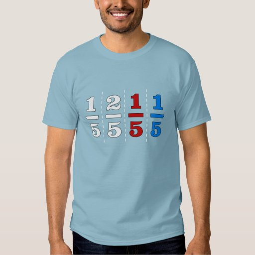 One fifth two fifth red fifth blue fifth t shirt zazzle for Optima cotton wear t shirts