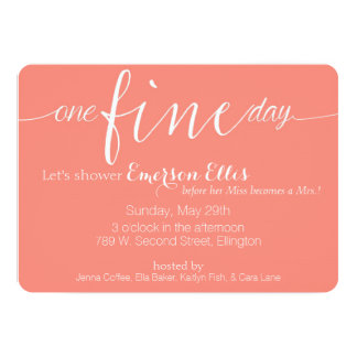 One Fine Day Card