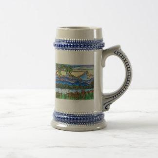 """One Fine Day"" mug stein Beautiful Landscape Art!"