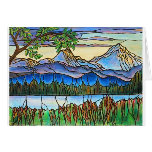 """One Fine Day"" Stained Glass Landscape Art! Cards"