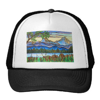 """One Fine Day"" Stained Glass Landscape Art! Trucker Hat"
