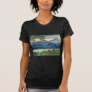 """One Fine Day"" Stained Glass Landscape Art! T-Shirt"
