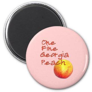 One Fine Georgia Peach 2 Inch Round Magnet
