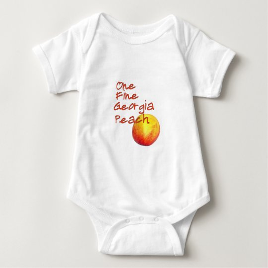 One Fine Georgia Peach Baby Bodysuit