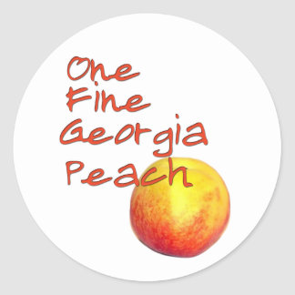 One Fine Georgia Peach Classic Round Sticker