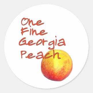 One Fine Georgia Peach Classic Round Sticker