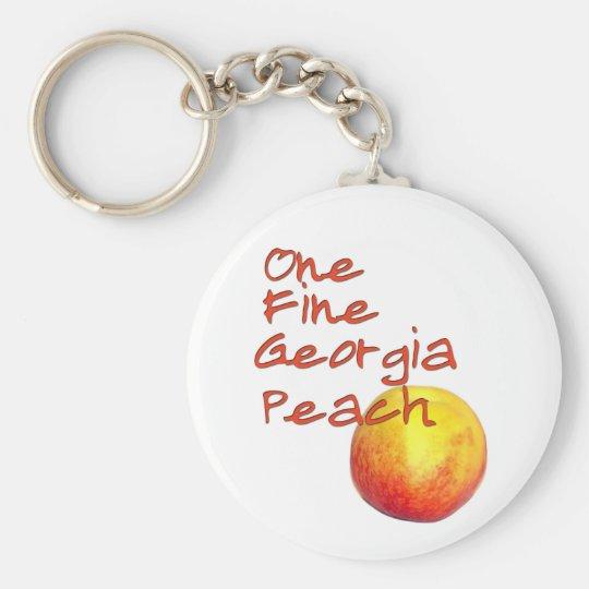 One Fine Georgia Peach Keychain